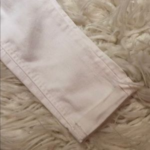 Justice Bottoms - White Jean Capri pants girls